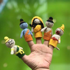 Ramayana finger puppet crochet pattern bundle designed by Anvi's Granny Handicrafts