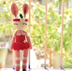 Tribal bunny amigurumi pattern