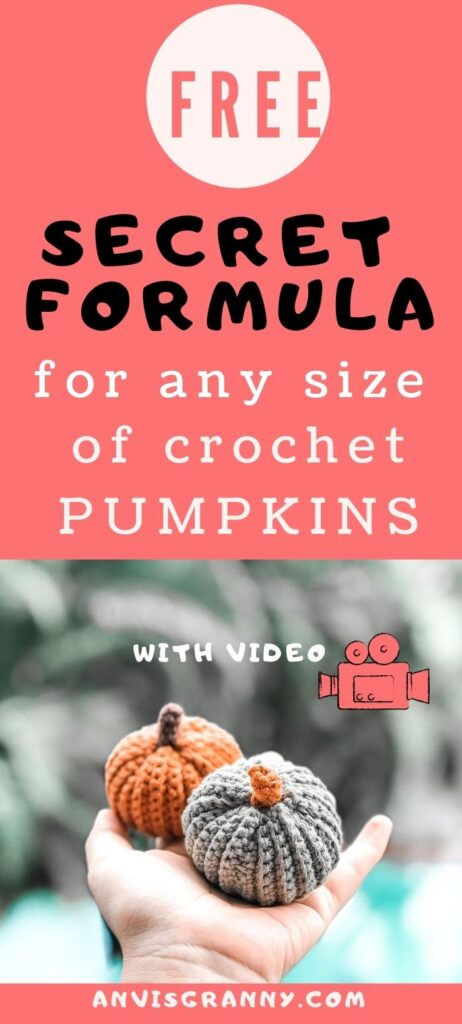 pumpkin free crochet pattern for beginners that can help you to crochet any size of pumpkins