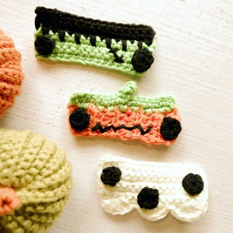Halloween face mask ear saver crochet pattern for beginners