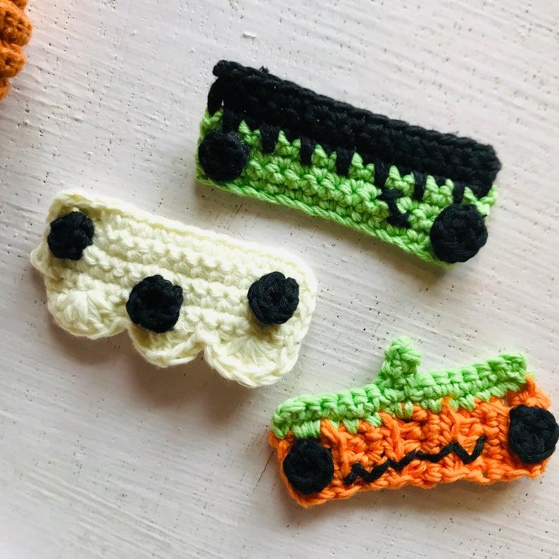 Halloween face mask extender crochet pattern for beginners