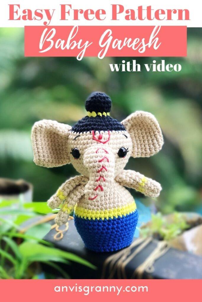 Ganesha free crochet pattern for beginners