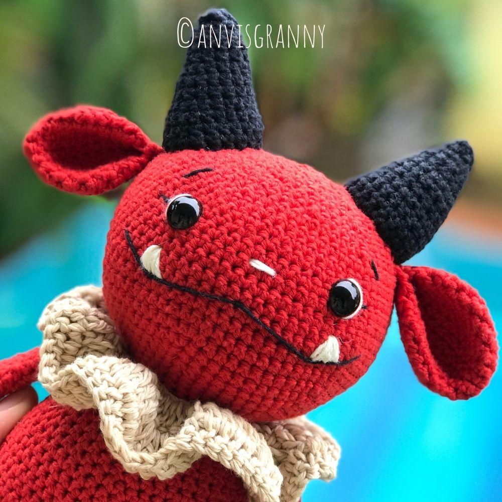 Dark the devil doll amigurumi Halloween crochet pattern (3)