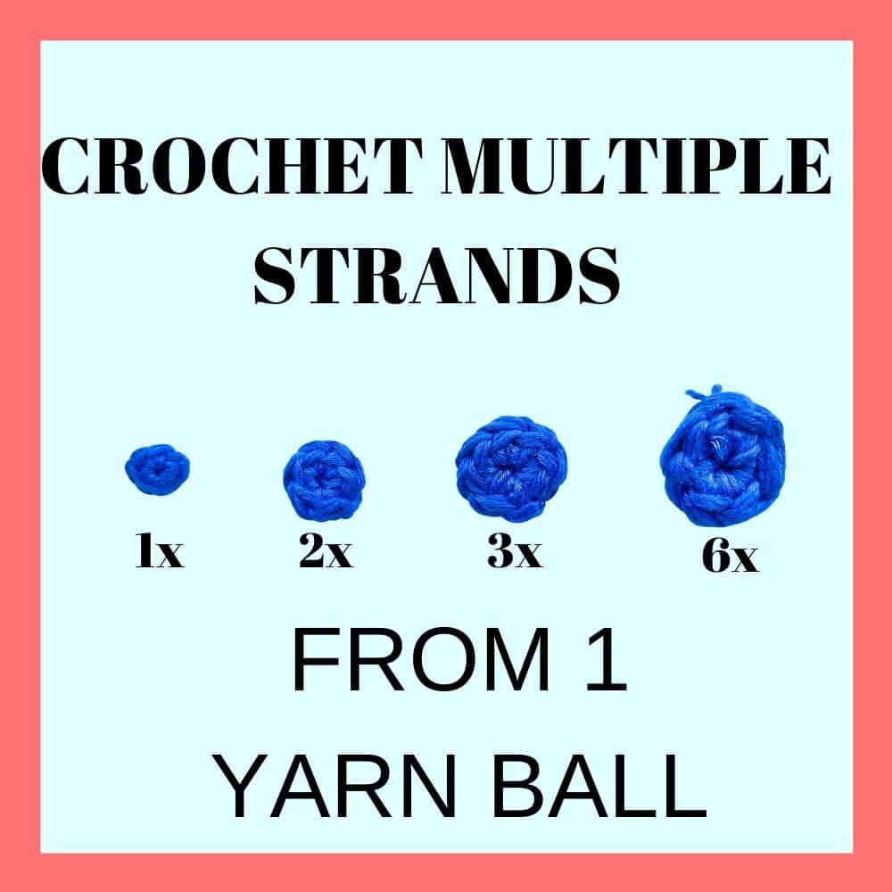 create multiple strand yarn from a yarn skein