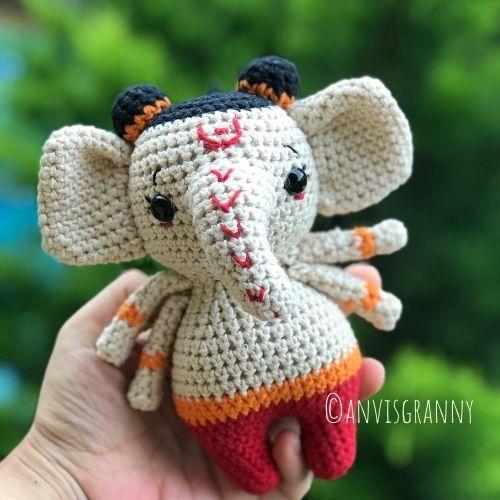 Lord Ganesha crochet pattern for beginners