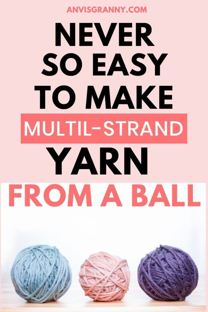 How to create multiple strands yarn (1)