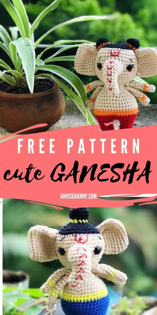 Lord Ganesha Ganpati amigurumi doll pattern crochet