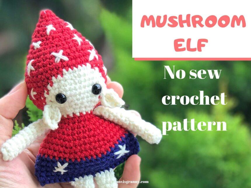 Amigurumi Christmas Elf Doll Pattern Free – Mushroom Elf