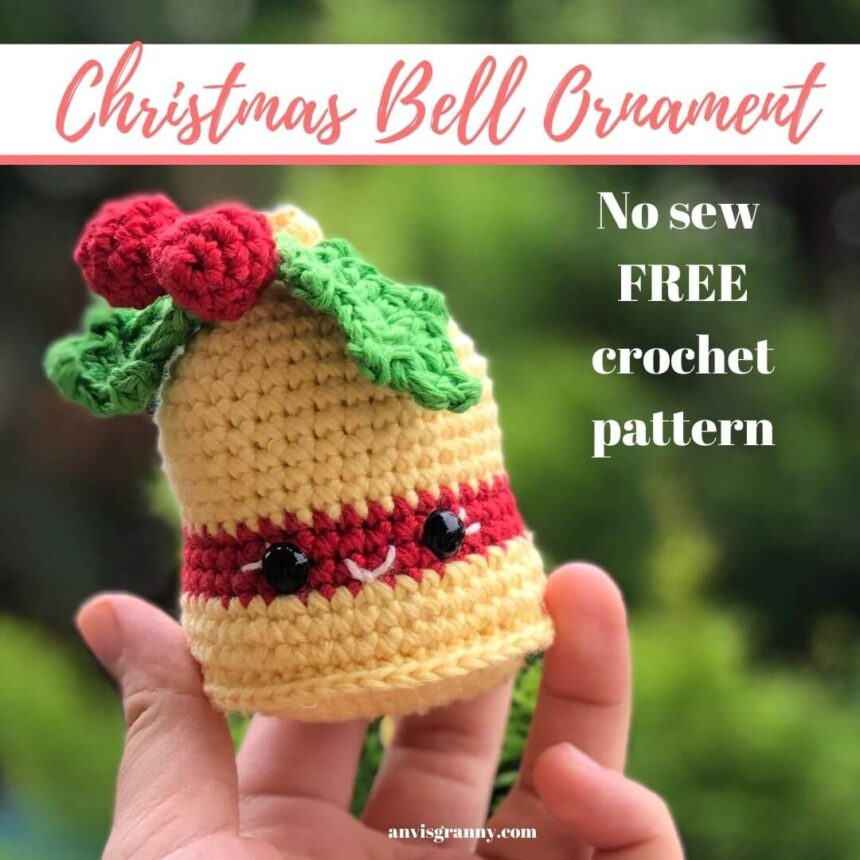 Crochet Christmas Bells Free Pattern And Video Tutorial For Beginners