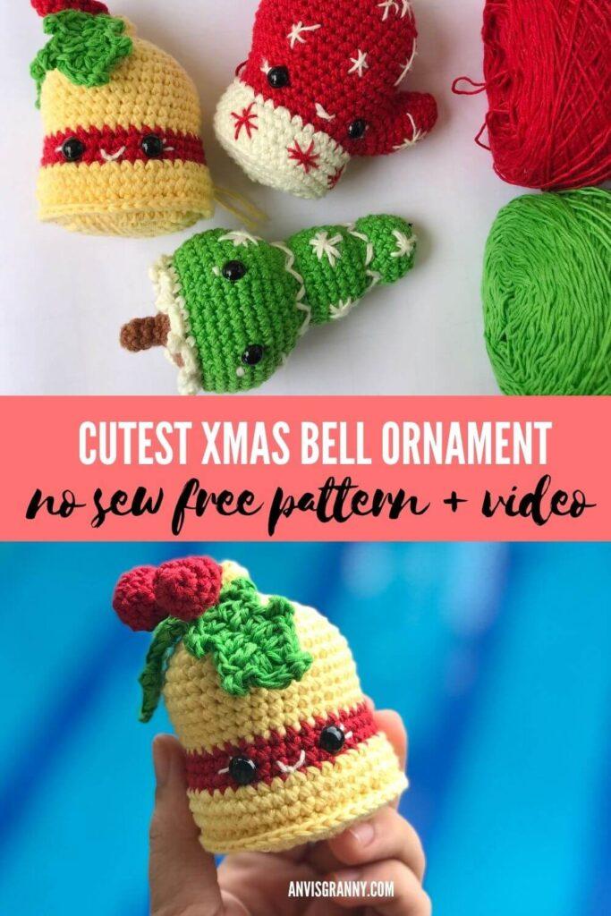 Crochet Bells Tutorial pattern for ADVANCED crocheter Crochet pattern of Christmas Bells