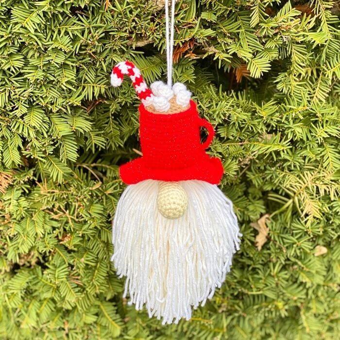 Amigurumi Hot Cocoa Gnome Ornament