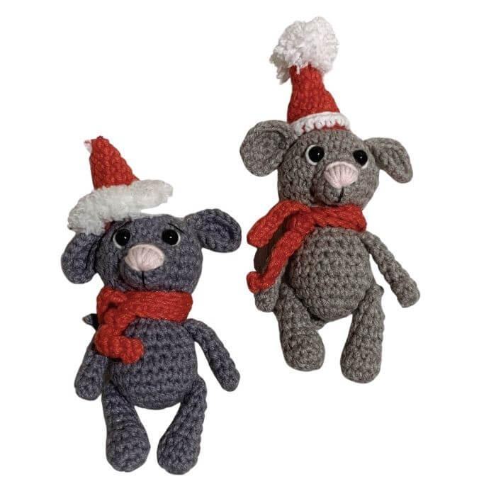 Christmas Mouse amigurumi pattern