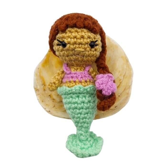 Ayla the mini mermaid free amigurumi pattern