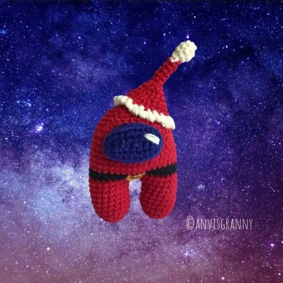 Christmas Among us amigurumi crochet pattern for beginners