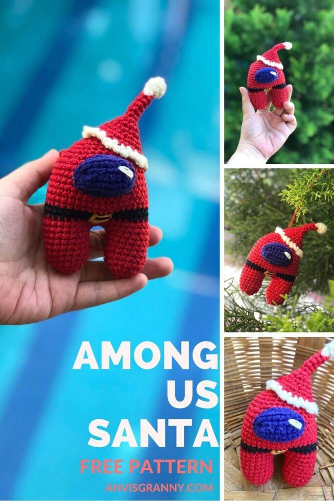 Imposter crewmate crochet amigurumi free pattern