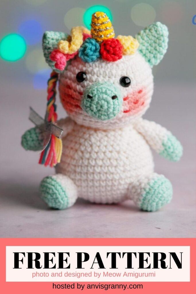 unicorn amigurumi crochet pattern free