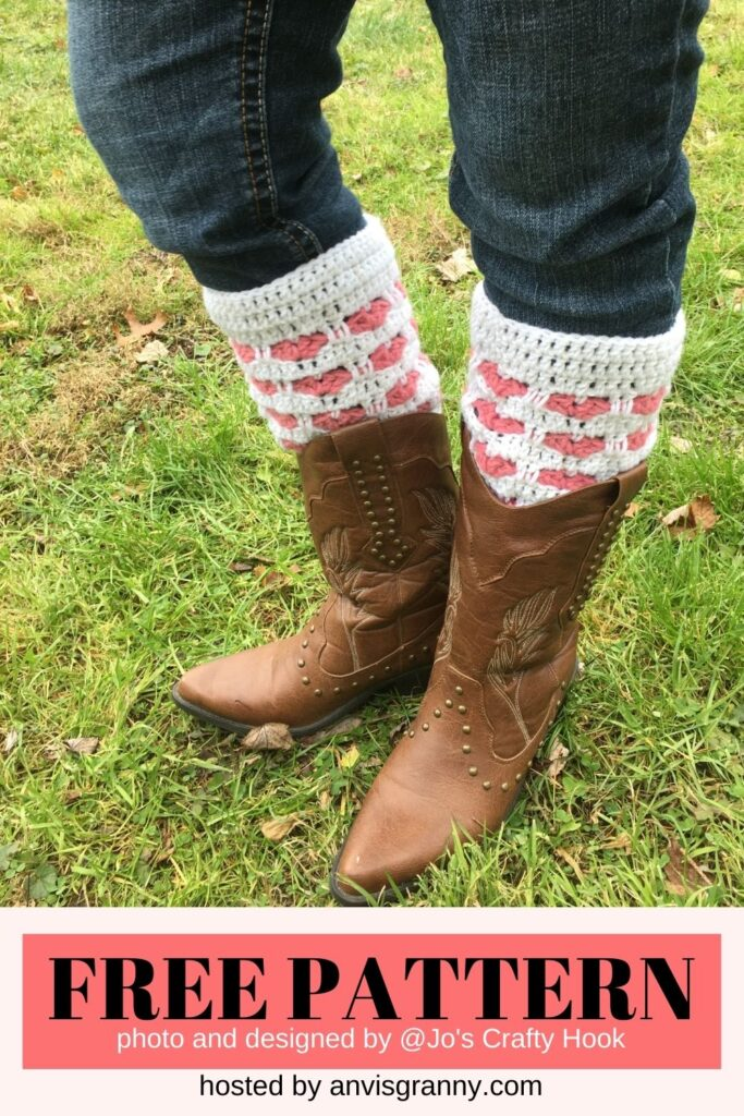 Wrapped in Love Boot Cuffs free crochet pattern
