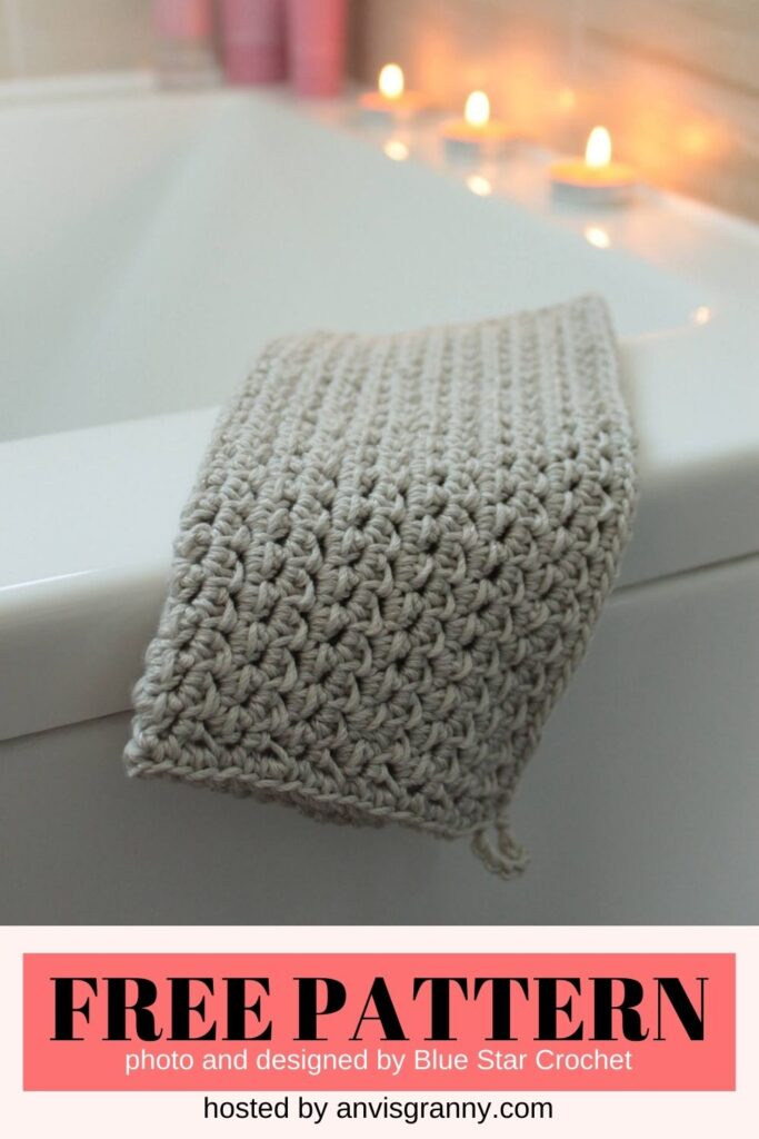 Blossom Washcloth free crochet pattern