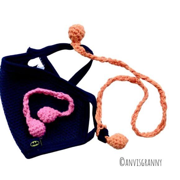 crochet ear saver pattern for beginners. Crochet mask strap extender