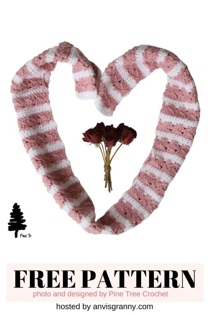 Sweetheart Spike Scarf free crchet pattern