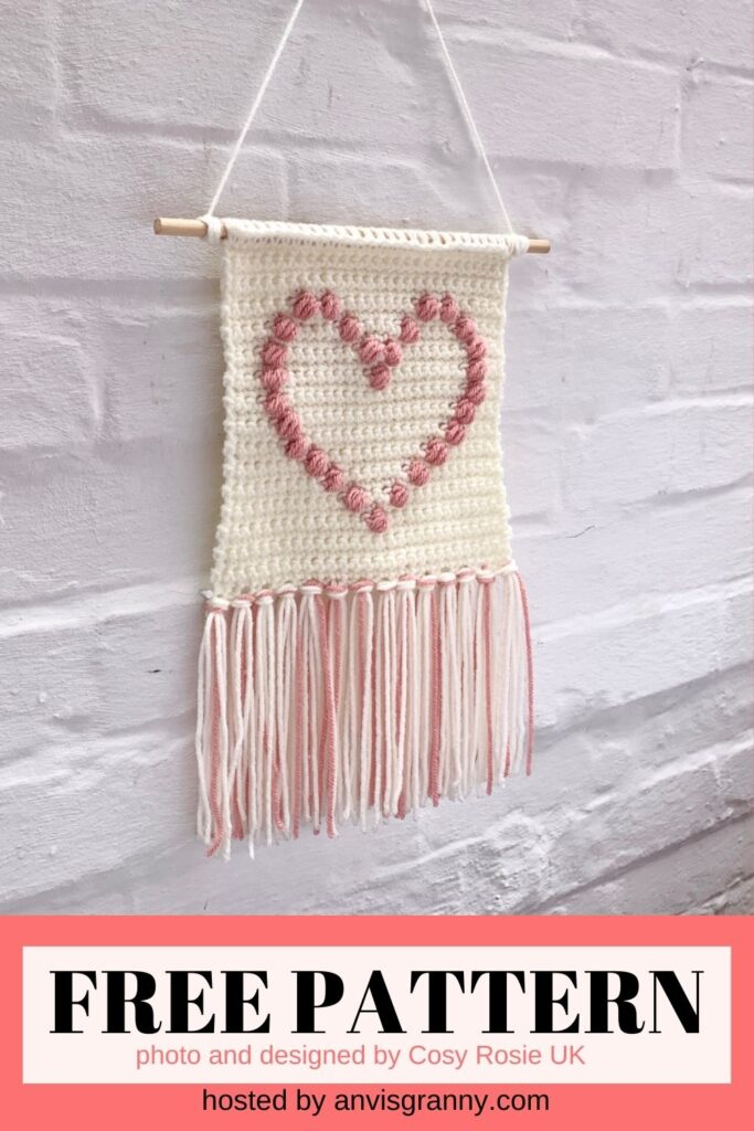 Show the Love Wall Hanging free crochet pattern