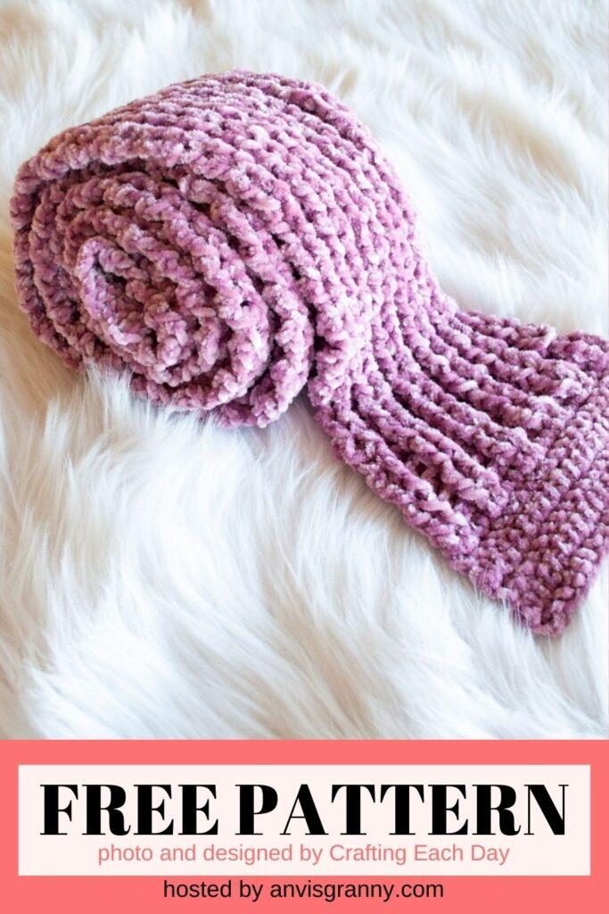 Velvet Scarf free crochet pattern