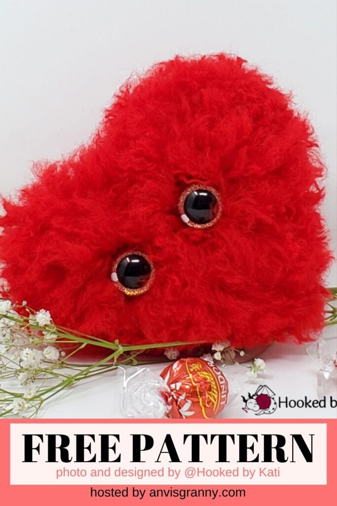 fluffy heart crochet pattern