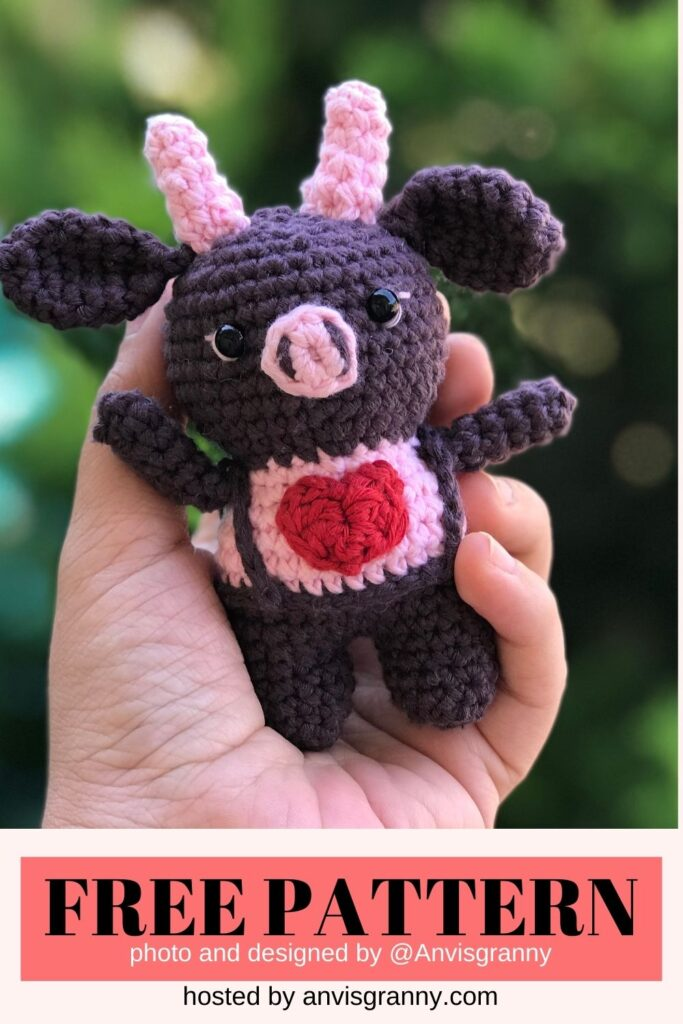 Valentine ox amigurumi crochet pattern free for beginner