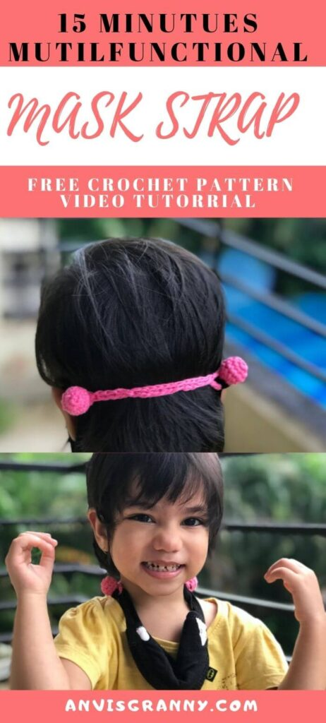 Free 15 minutes ear saver for mask free crochet pattern and video tutorial
