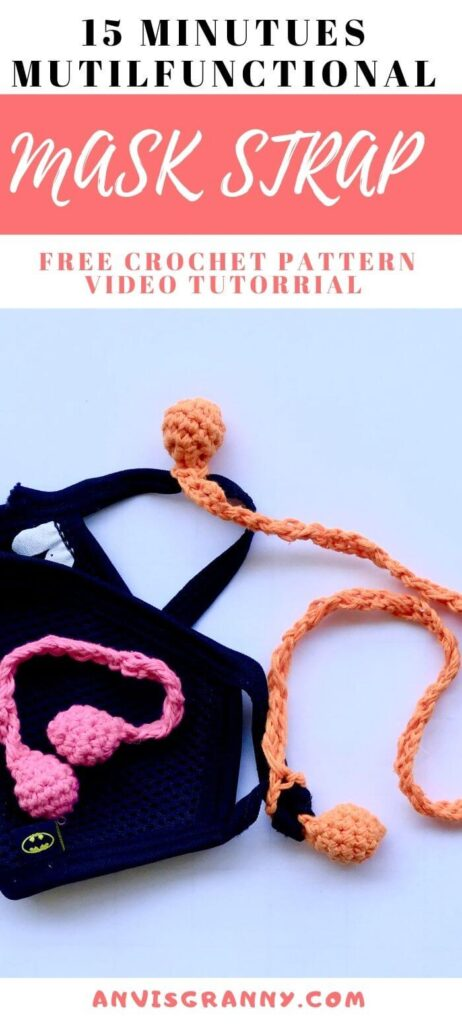 Free 15 minutes  mask ear saver free crochet pattern and video tutorial