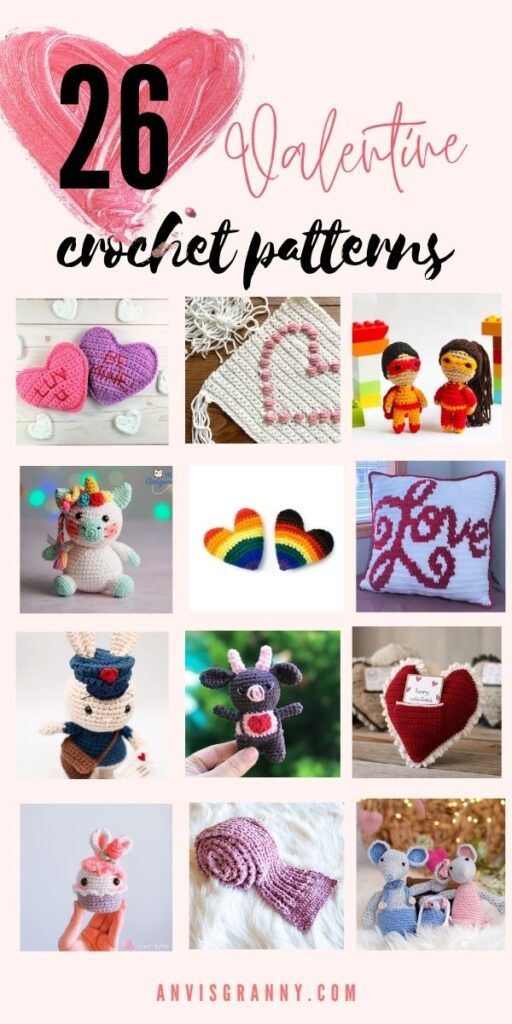 Valentine crochet patterns free