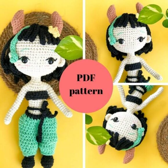 Taurus Amigurumi Doll – Zodiac Princess Crochet Pattern Review