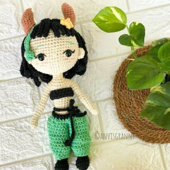 taurus zodiac amigurumi doll crochet toy