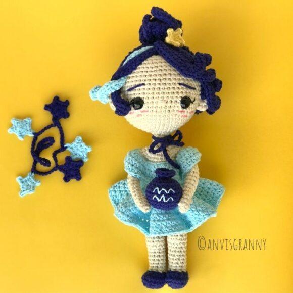 aquarius doll amigurumi pattern