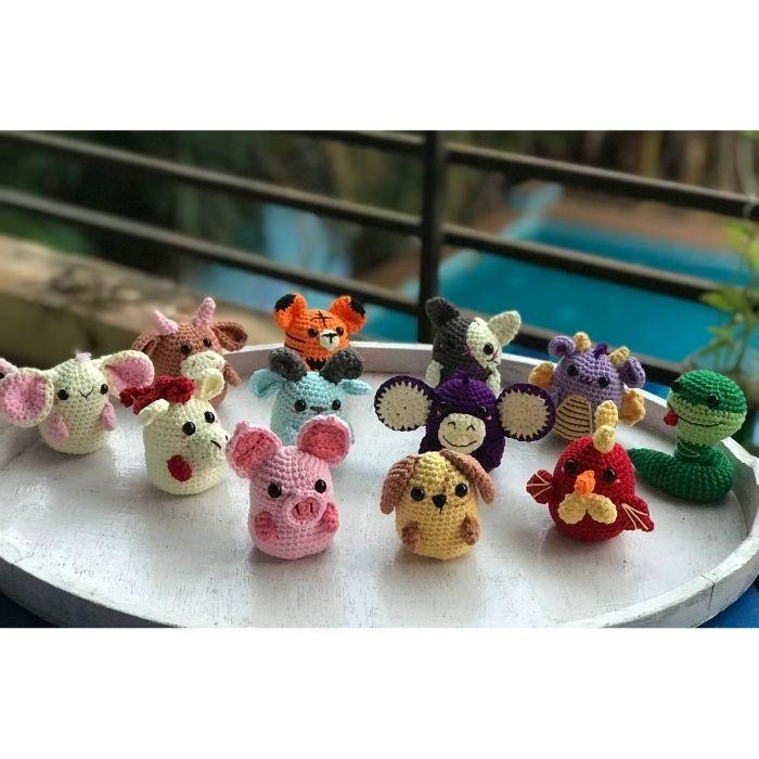 Chinese zodiac animal amigurumi crochet pattern
