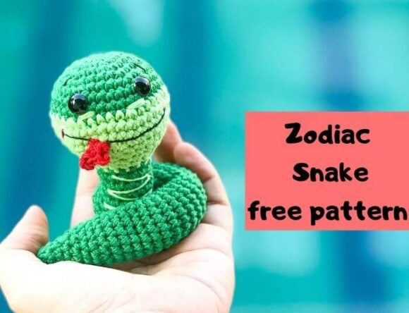 Easy Zodiac crochet snake pattern free-Zodiac CAL (Eps 06)