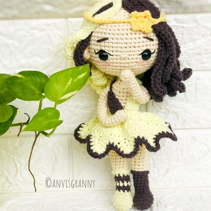 Crochet pattern how to crochet Gemini zodiac amigurumi doll for astrological sign