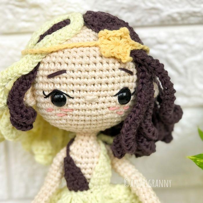 Horoscope Gemini crochet doll amigurumi pattern