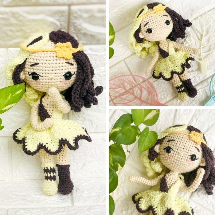 Easy-to-follow Gemini zodiac amigurumi crochet doll pattern