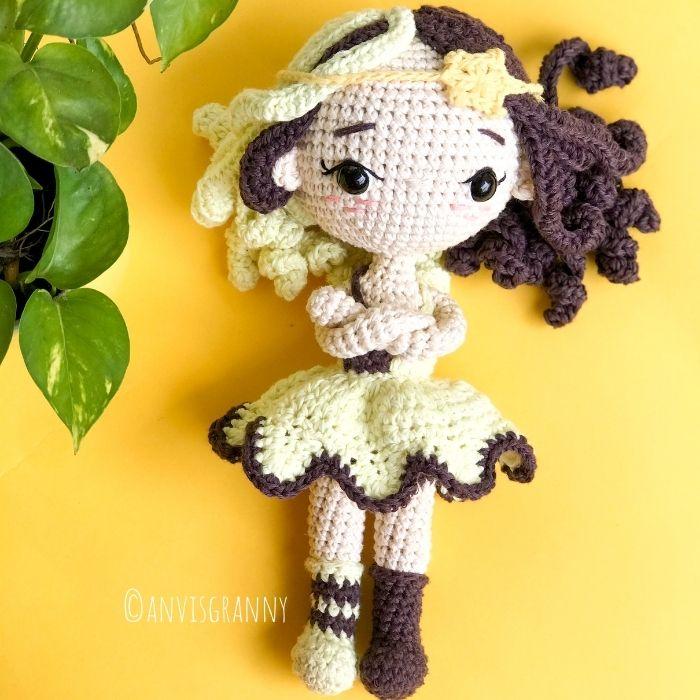 Gemini zodiac amigurumi crochet doll pattern
