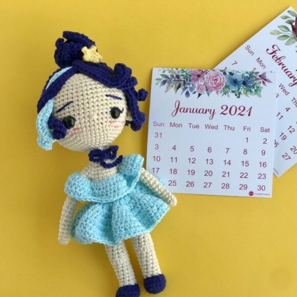 Zodiac Aquarius Princess Amigurumi Doll Crochet Pattern3