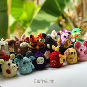 Chinese Zodiac ox amigurumi crochet patterns