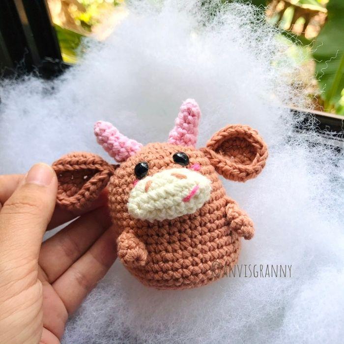 chinese zodiac amigurumi ox crochet pattern
