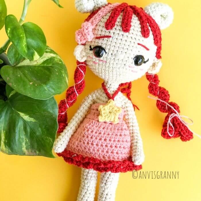 Aries zodiac amigurumi crochet doll pattern