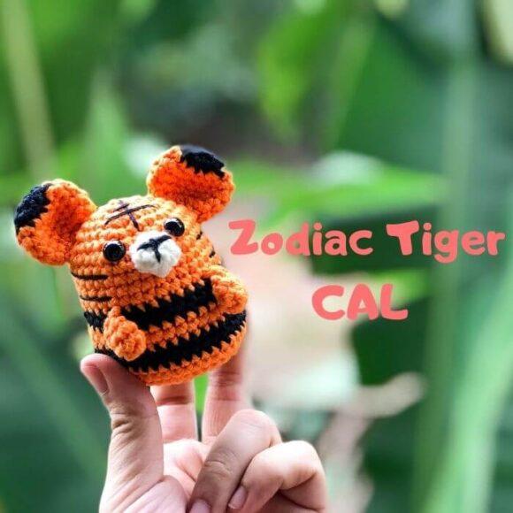 Zodiac Tiger Amigurumi Free Pattern -Zodiac CAL (Eps 03)