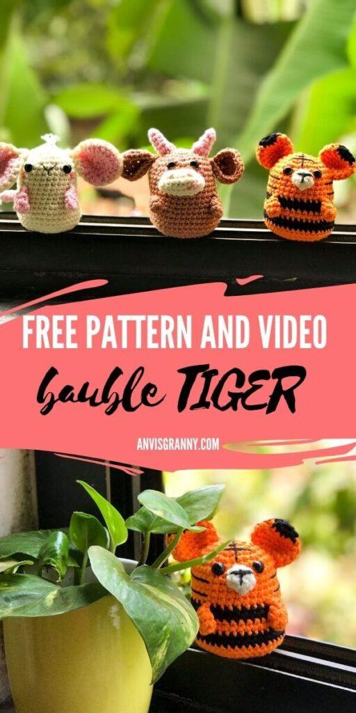 Chinese zodiac tiger amigurumi free pattern