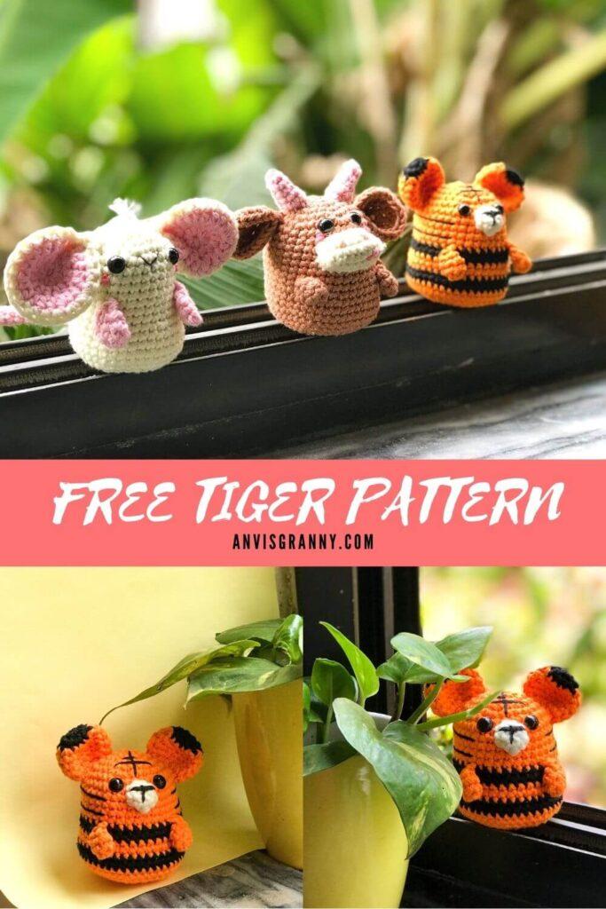 Free Tiger amigurumi crochet pattern