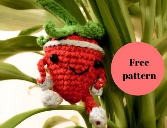 Sporty Strawberry Amigurumi Free Crochet Pattern