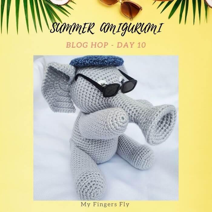cute elephant amigurumi crochet toy