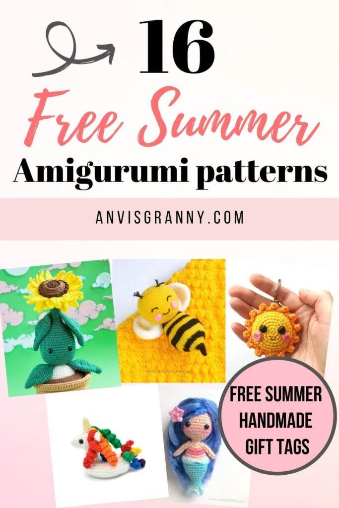 16 cutest Summer Amigurumi crochet free patterns